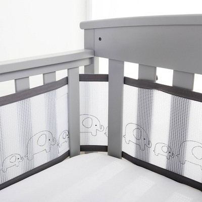 BreathableBaby Embroidered Collection Liner Elephants