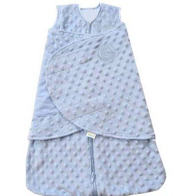 HALO SleepSack Swaddle Plushy Dot Velboa - Blue S