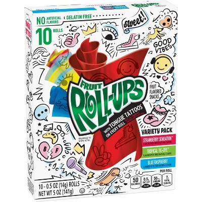 Betty Crocker Fruit Roll-Ups Variety Fruit Flavored Snacks - 10ct