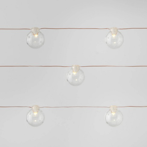 30ct Clear Globes Dewdrop LED String Lights Warm White with Copper Wire - Wondershop™ - image 1 of 4