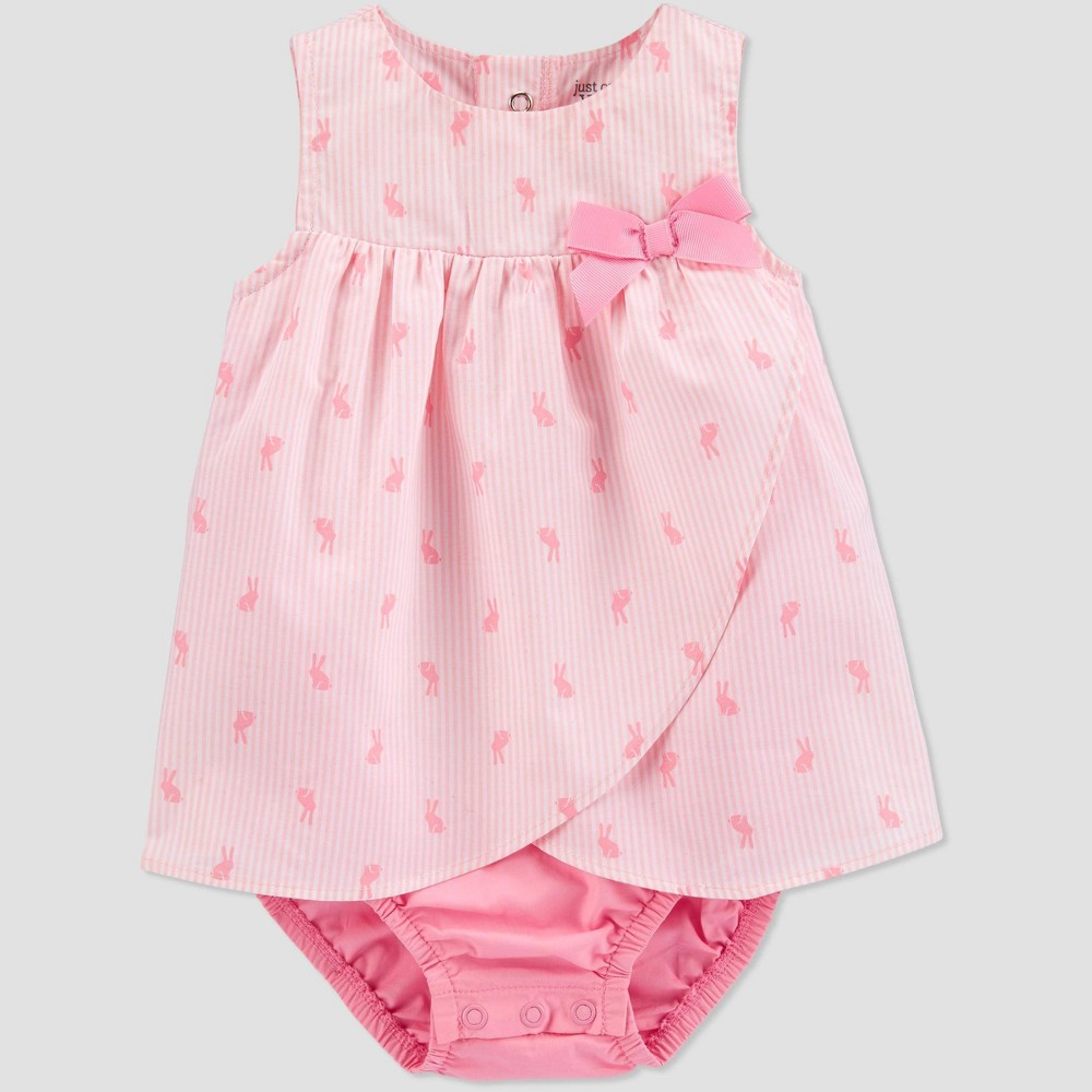 Image of Baby Girls' Bunny Romper - Just One You made by carter's Pink 12M, Girl's