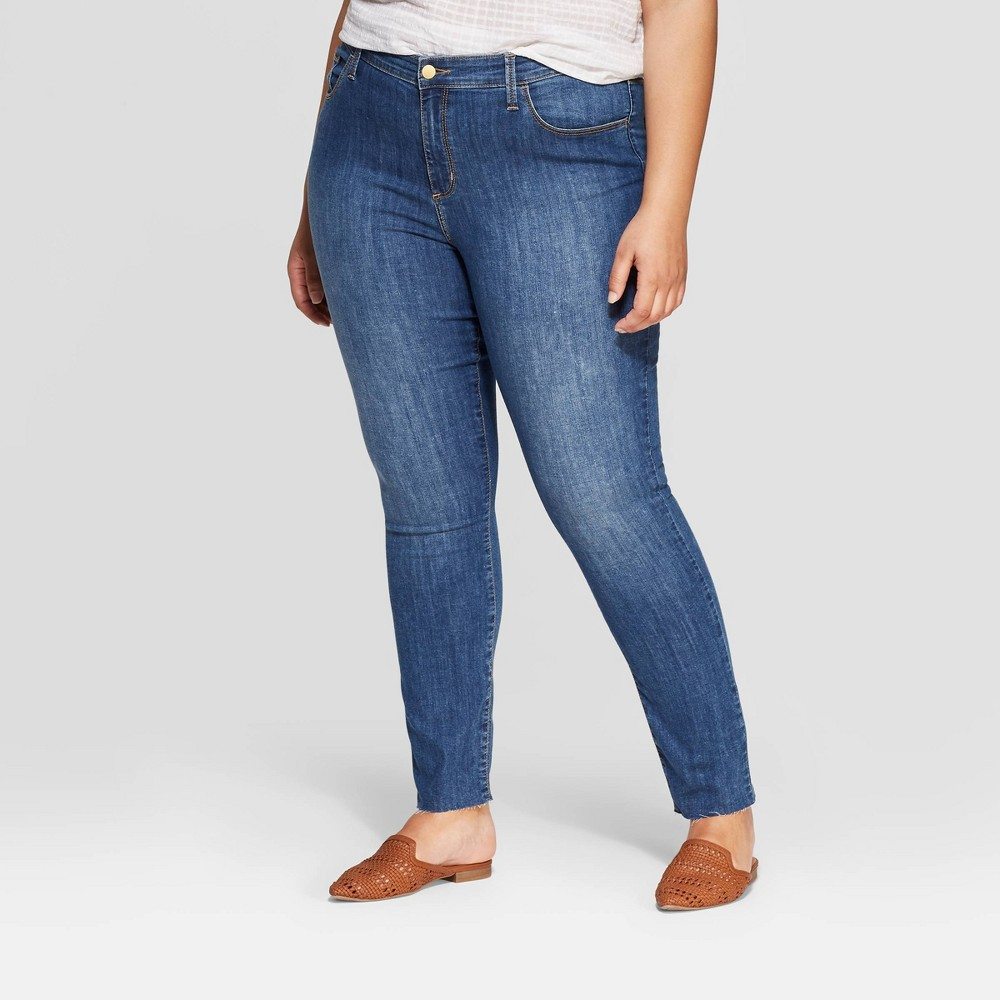 Women's Plus Size Skinny Mid-Rise Jeans - Universal Thread Blue 14W