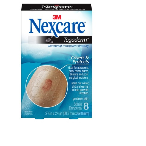 Nexcare Tegaderm Waterproof Transparent Wound Dressing Bandge,Clear, 2-3/8 in x 2 3/4 in, 8 ct. - image 1 of 3