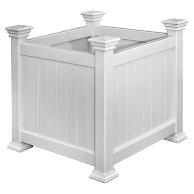 Cardiff Square Planter Box - White - Vita