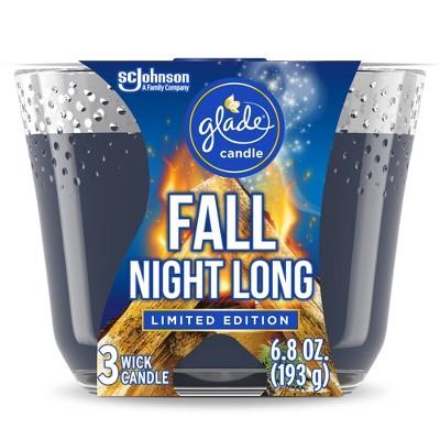 Glade Fall Night Long Candle - 6.8oz