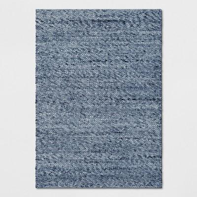 Chunky Knit Wool Woven Rug 9'X12' Indigo - Project 62™
