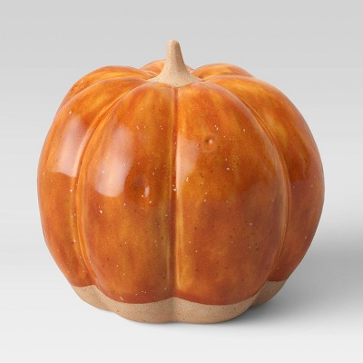 "4.8"" x 5"" Decorative Ceramic Pumpkin Orange - Threshold™"