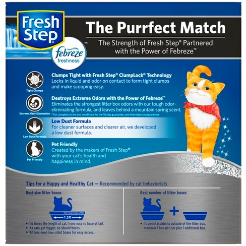 e541505d4e481 Fresh Step - Extreme Scented Litter With The Power Of Febreze - Clumping  Cat Litter - Mountain Spring - 25lbs : Target