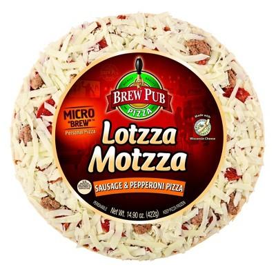Brew Pub Lotzza Motzza Sausage & Pepperoni 9-inch Frozen Pizza - 14.9oz