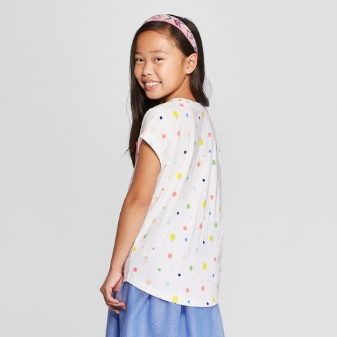 533e529228b Girls  Short Sleeve Fruit Print Pocket T-Shirt - Cat   Jack™ White ...