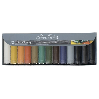Art Chunky Charcoal Set Multicolor 12ct - Cretacolor