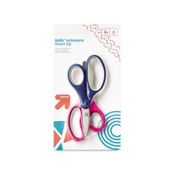 2ct Kids' Scissors Blunt Tip Pink/Blue - Up&Up™