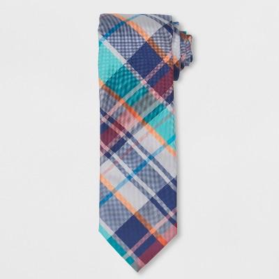 7242c8f320c Men s Plaid Necktie - Goodfellow   Co™ Federal Blue ...