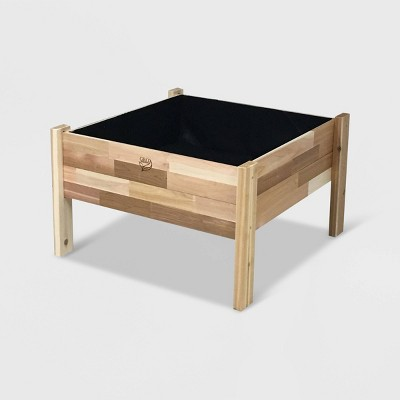 """36"""" Elevated Rectangular Garden Bed Planter With Fitted Liner Cedar - GRO Products"""