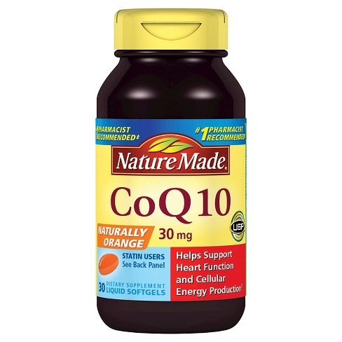 Nature Made CoQ10 Dietary Supplement Liquid Softgels - 30ct - image 1 of 1