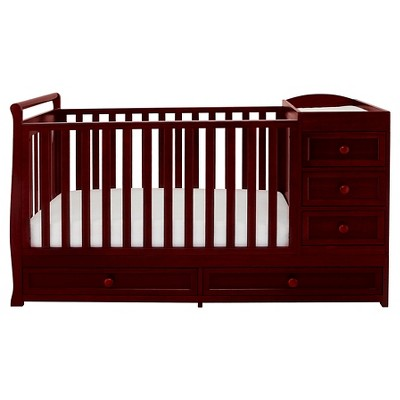 Mikaila Presley 3-in-1 Crib and Changer Combo - Cherry