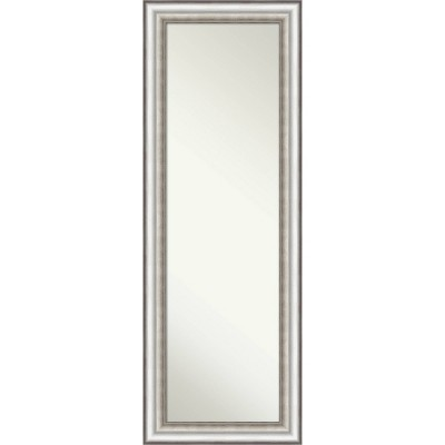 "19"" x 53"" Salon Silver Framed On the Door Mirror - Amanti Art"