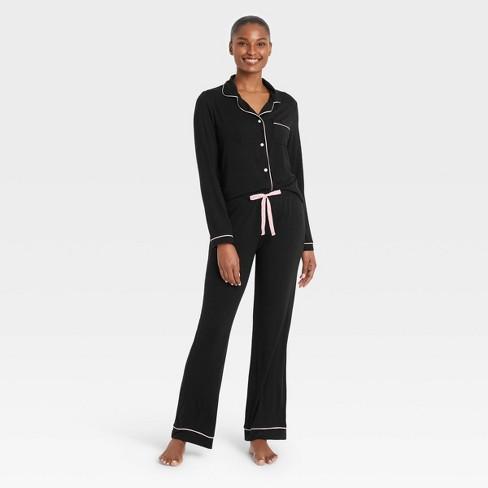 Women's Beautifully Soft Long Sleeve Notch Collar Top and Pants Pajama Set - Stars Above™ - image 1 of 3