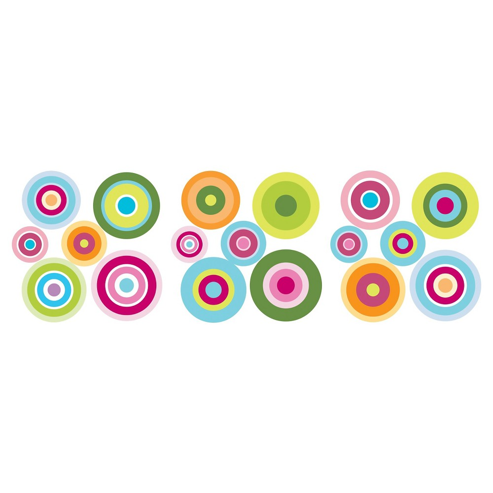 Image of Fun4Walls Candy Dot Wall Stickers Set of 2 - Blue/Green