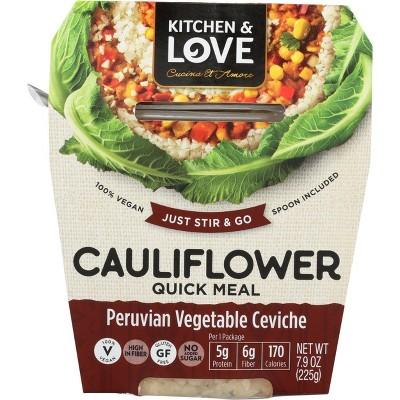 Cucina & Amore Gluten Free and Vegan Cauliflower Peruvian Vegetable Ceviche Quick Meal - 7.9oz