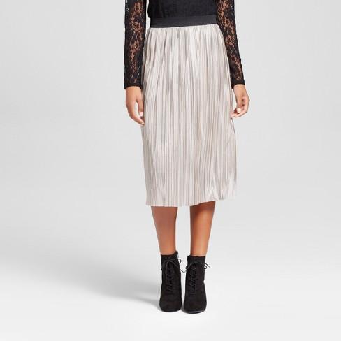 a2e893262fc3 Women's Metallic Pleated Skirt - Xhilaration™ Silver : Target