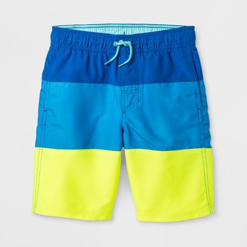 71720ce3f36 Boys' 3 Tier Dash Swim Trunks - Cat   Jack™ Blue   Target