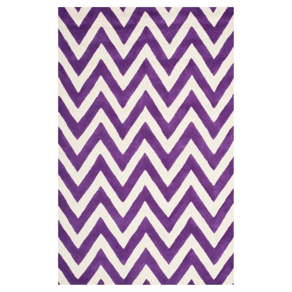 Dalton Textured Area Rug - Purple/Ivory (5'x8') - Safavieh