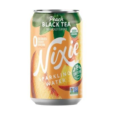 Nixie Peach Black Tea Sparkling Water - 8pk/12 fl oz Cans