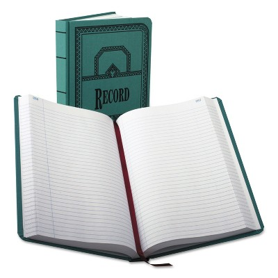 Boorum & Pease Record/Account Book Record Rule Blue 500 Pages 12 1/8 x 7 5/8 66500R