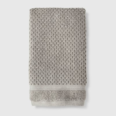 Performance Texture Hand Towel Gray - Threshold™