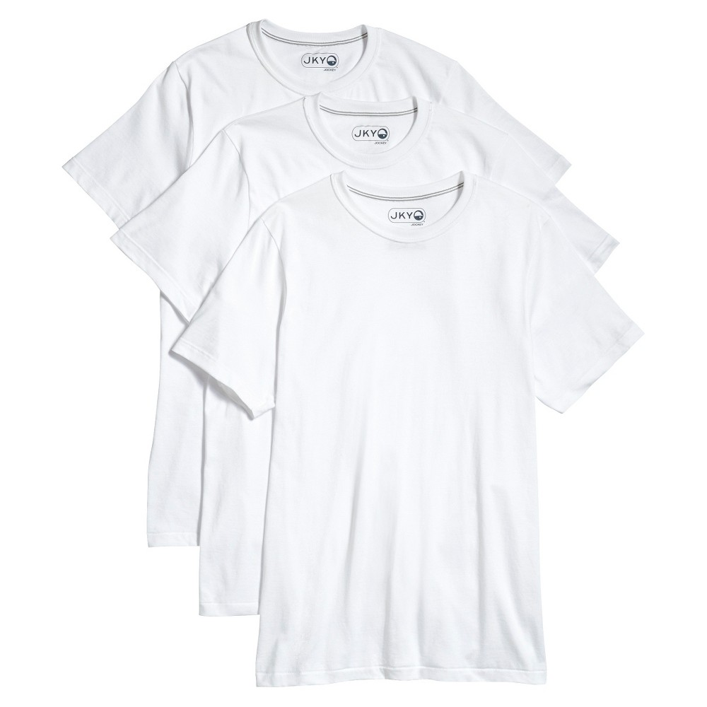 Jky by Jockey Men's 3-Pack Crew Neck T-Shirts XL - White