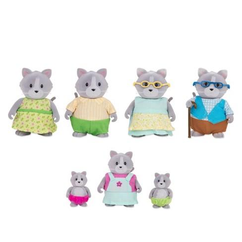 Li'l Woodzeez Miniature Animal Figurine Set - Daintypaw Cat Family - image 1 of 3
