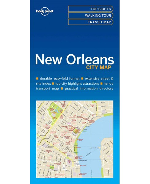 Lonely Planet New Orleans city Map (Paperback) - image 1 of 1