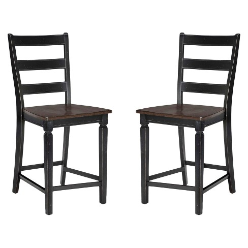 Glennwood Ladder Back Barstool Seat Black (Set of 2) - Intercon - image 1 of 1