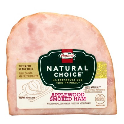 Hormel Natural Choice Applewood Smoked Quarter Ham - 1-1.42 lbs - price per lb