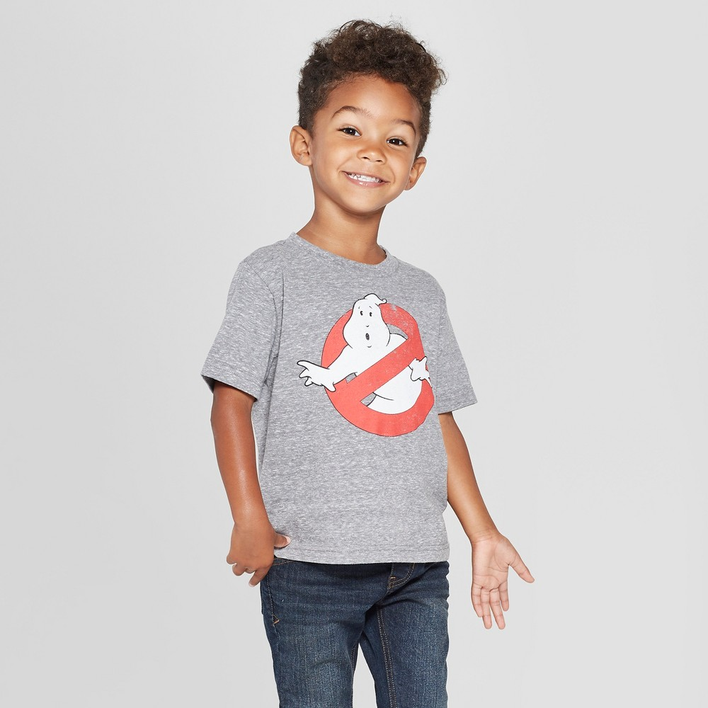 Toddler Boys' Ghostbusters Logo Short Sleeve T-Shirt - Gray 18M