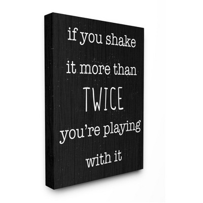 Stupell Industries Shake It More Than Twice Phrase Sassy Bathroom Quote