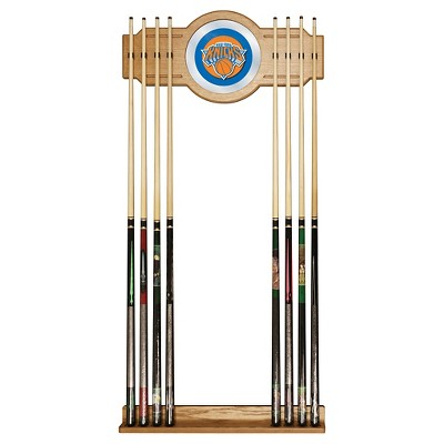 NBA New York Knicks Billiard Cue Rack with Mirror
