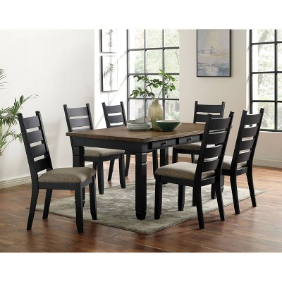 66 Woodrow 6 Drawer Dining Table Dark Oak Homes Inside Out Target
