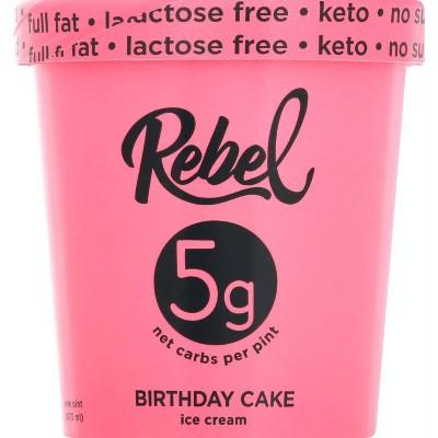 Rebel Ice Cream Birthday Cake Ice Cream - 16oz