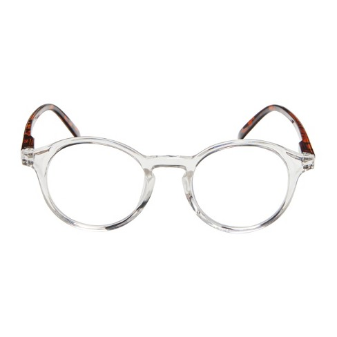 632698512bdc ... Blue Light Blocker Round Clear with Tortoise Temples Glasses. Shop all ICU  Eyewear