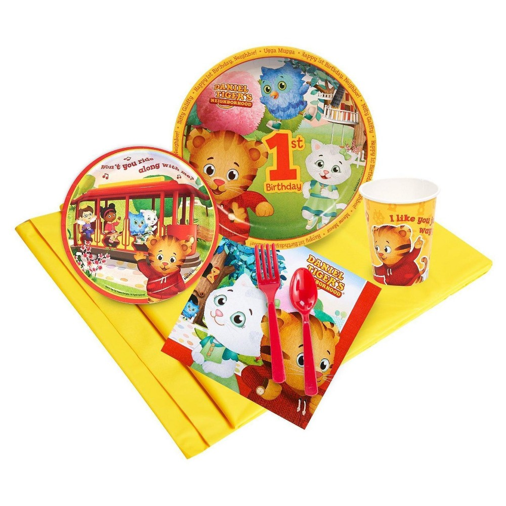 Daniel Tigers Neighborhood 1st Birthday - 24 Guest Party Pack, Multicolored