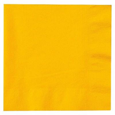 50ct Yellow Dinner Napkin