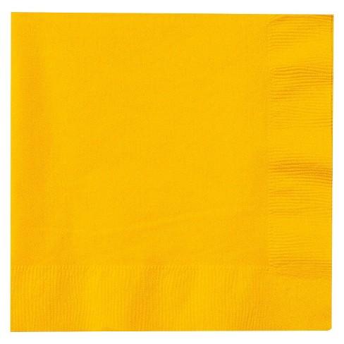 50ct Yellow Dinner Napkin - image 1 of 1