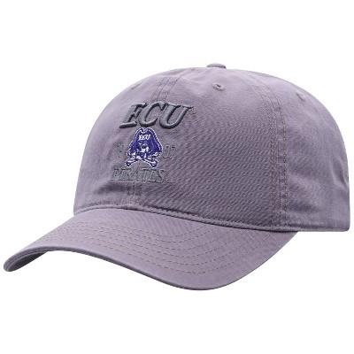 NCAA East Carolina Pirates Men's Skill Gray Garment Washed Canvas Hat