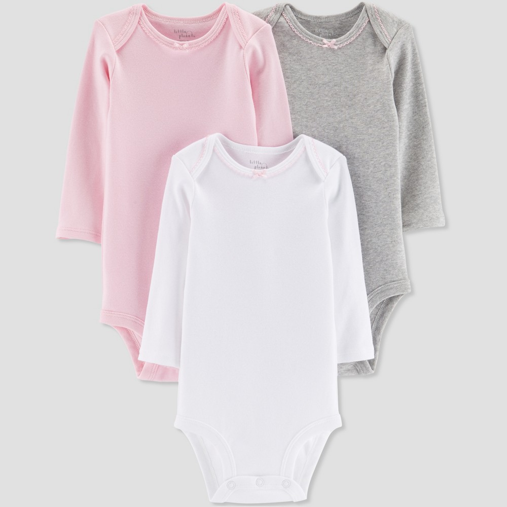 Baby Girls' 3pk Bodysuit - Little Planet by Carter's Pink/Gray/White 24M