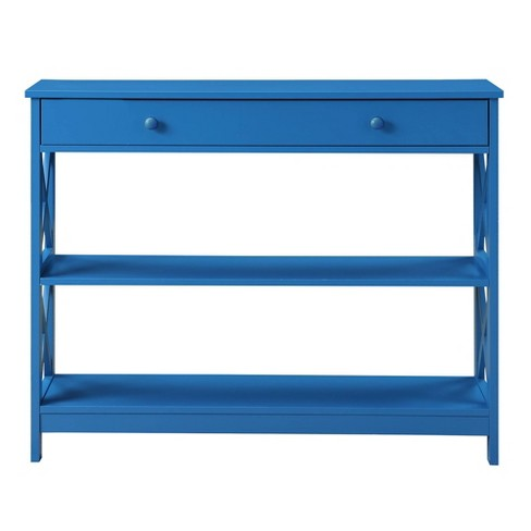 Oxford 1 Drawer Console Table Blue - Johar Furniture - image 1 of 8