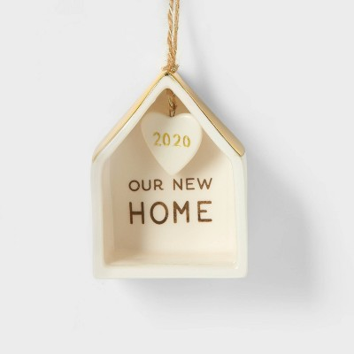 New Home Christmas Tree Ornament 2020 White & Gold Christmas Tree Ornament - Wondershop™