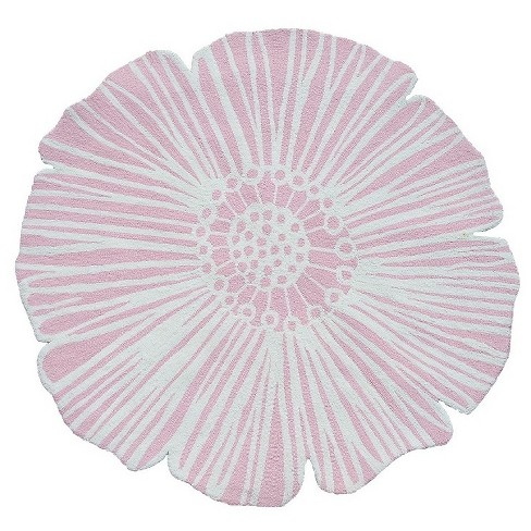 Pink round flower rug 5x8 the rug market target about this item mightylinksfo