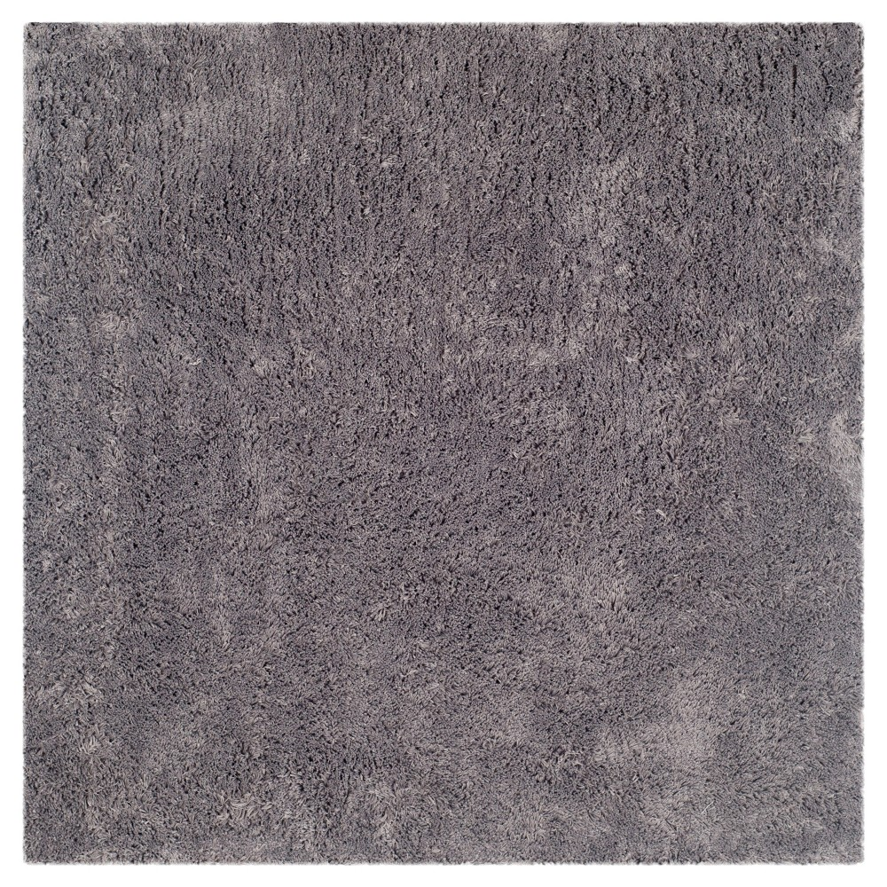 Gray Solid Tufted Square Area Rug - (7'x7') - Safavieh